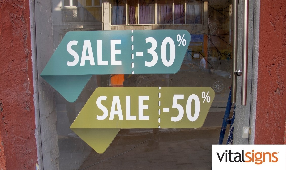 Different types of vinyl graphic signs
